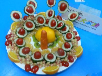 佳乐幼儿园教师创意水果拼盘比赛活动